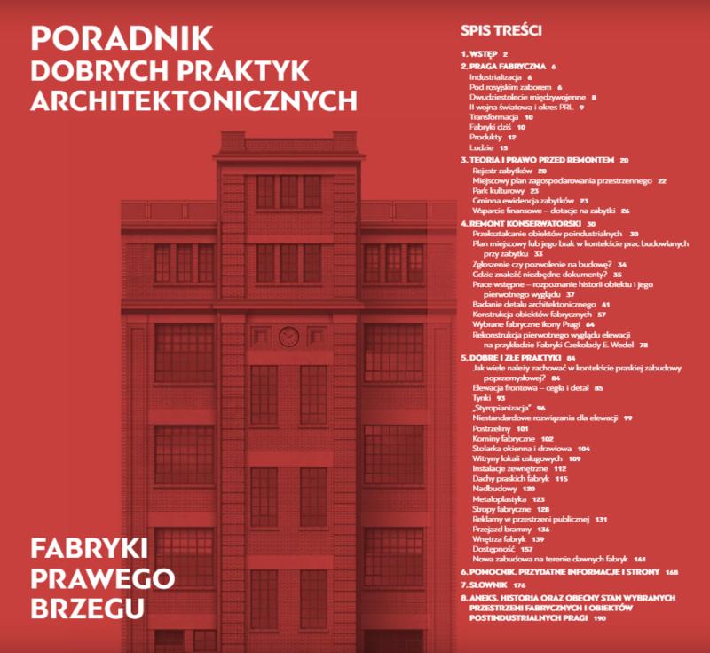 Poradnik dobrych praktyk architektonicznych. Fabryki Prawego Brzegu.